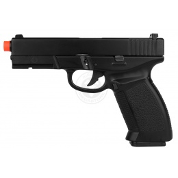 HFC Full Metal Dark Hawk Airsoft GBB Gas Blowback Pistol - BLACK