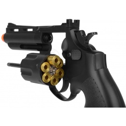 HFC .357 Style Gas Non Blowback Compact Airsoft Revolver - BLACK