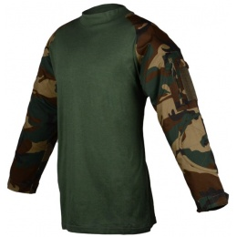 Rothco Military Combat Shirt w/ Hook and Loop Straps - WOODLAND