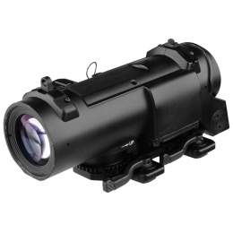 G&G 4X Optical Sight Airsoft Rifle Scope w/ Illuminated Reticle
