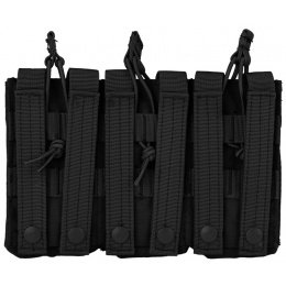 Condor Outdoor MOLLE Triple M4 / M16 Kangaroo Mag Pouch - BLACK