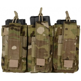 Condor Outdoor MOLLE Triple M4 / M16 Kangaroo Mag Pouch - MULTICAM