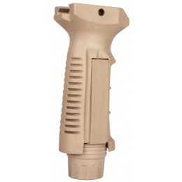 T&D Airsoft Ergonomic Vertical Grip w/ Pressure Pad Housing - TAN