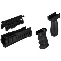 T&D Airsoft AK47 AEG RIS Handguard / Foregrip / Motor Grip Set