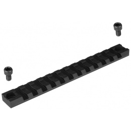T&D Airsoft 12-Slot Accessory RIS Rail Section w/ 2 Mounting Holes