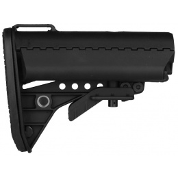 T&D Airsoft Improved M4 Style Crane Stock - BLACK