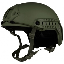 G-Force Ballistic BUMP Helmet w/ Side Adapter Rails - OD GREEN