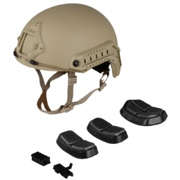 G-Force Ballistic BUMP Helmet w/ Side Adapter Rails - TAN