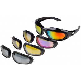 Airsoft Megastore Armory ArmorOptik Full Seal Glasses w/ 3 Lenses