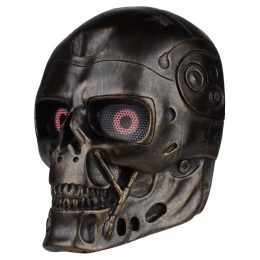FMA Airsoft Wire Mesh Robot Skull Full Face Mask - BRONZE
