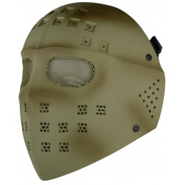 T&D Airsoft Wire Mesh Hockey Full Face Mask - TAN