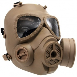 T&D Airsoft Toxic Full Face Gas Mask w/  Anti-Fog Fan - TAN