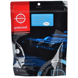 0.40g GoldenBall Biodegradable Airsoft BBs - 1000rd Bag - Black