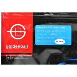 0.40g GoldenBall Biodegradable Airsoft BBs - 1000rd Bag - Black