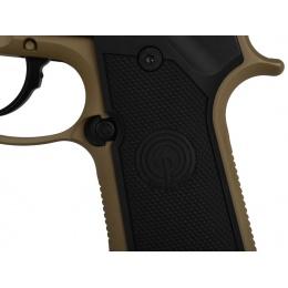 Socom Gear M9A1 SOF Airsoft GBB Pistol w/ Mock Suppressor - TAN